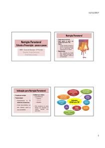 Terapia Nutricional 05   Nutrição Parenteral Cálculo e prescrição