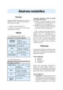 Endocrinologia: síndrome metabólica
