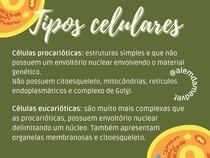 Tipos celulares - Biologia Celular