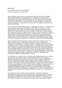 Cronologia dos estudos do comportamento