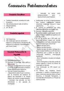 Comissões Parlamentares - Direito Constitucional