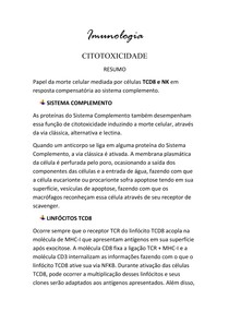Imunologia - Citotoxicidade