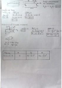 Exercício Resolvido - Cálculo de esforço cortante e momento fletor em viga com carga distribuída