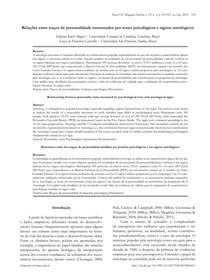Relações entre traços de personalidade mensurados por testes psicológicos e signos astrológicos