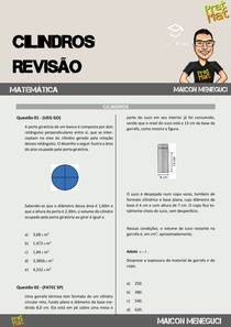 20 QUESTÕES DE CILINDROS