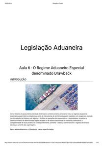 Aula 6   Legislação Aduaneira