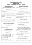 Aula 8 - Transformada de Laplace - Teoria