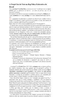 A Trajetória do Voto na República Federativa do Brasil