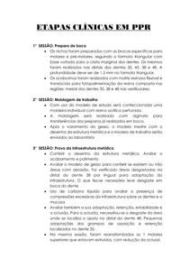 ETAPAS CLÍNICAS EM PPR CLASSE III