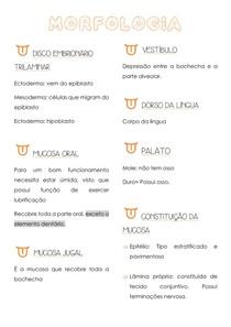 GLÂNDULAS E MUCOSA ORAL MORFOLOGIA/ODONTO