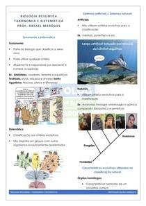 Evolução 6 - Taxonomia- Resumo