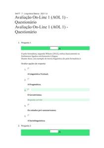 Linguística Básica - AOL 1