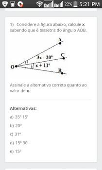 Alguém por favor, me ajuda a resolver essa questão? Não sei como calcular sem o grau do ângulo.