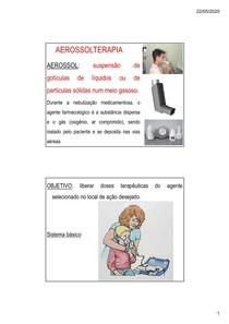 AEROSOLTERAPIA E OXIGENIOTERAPIA