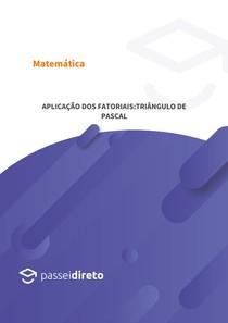 Aplicação dos fatoriais:Triângulo de Pascal