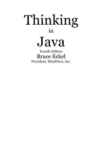 Thinking in Java - 4th Edition