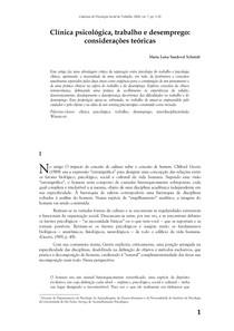 Cadernos de psicologia social do trabalho 7