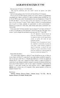 AGRAVO EM EXECUÇÃO - Direito Penal