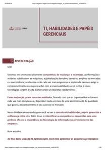 HABILIDADES E PAPEIS