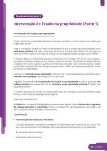 Fundamentos da intervenção na propriedade privada - Resumo