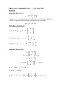 Álgebra Linear Lista de Exercícios 3 Felipe Moreti Bolini