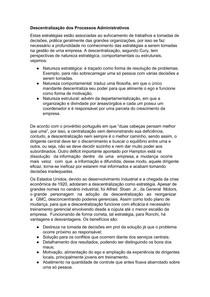Descentralização dos Processos Administrativos