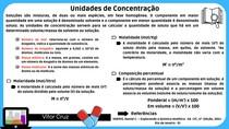 Unidades de Concentração - Química Analítica