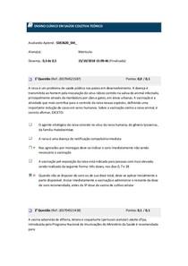 Avaliando aprendizado 3 ENSINO CLÍNICO EM SAÚDE COLETIVA TEÓRICO