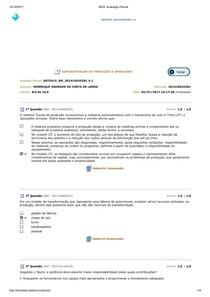 ADMINITRAÇÃO DA PRODUÇÃO E OPERAÇÃO AV3