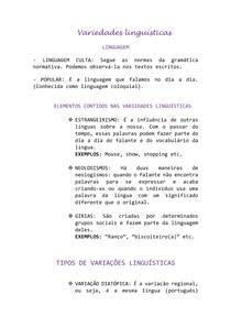 Português-Variedades linguísticas