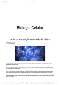 Aula 1 de Biologia Celular EAD ESTÁCIO FARMÁCIA