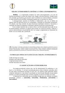 Antimicrobianos em Periodontia