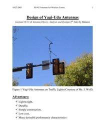 yagi uda design - Antenas