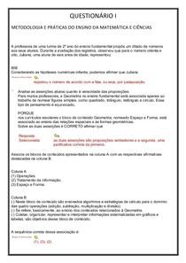 QUESTIONÁRIO I
