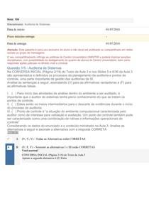 Apol 3   Auditoria de Sistemas nota 100