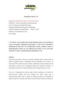 ATIV I METODOLOFIA AULA 01 E 02  .doc  RESPONDIDO
