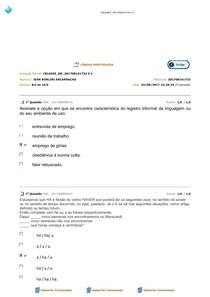AVALIAÇÃO PARCIAL LINGUA PORTUGUESA 3