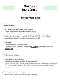 Química Inorgânica 05- Teorias Ácido-Base