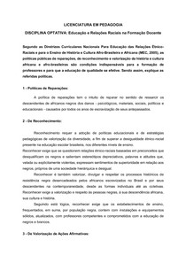 Análise das Diretrizes Curriculares Nacionais Para Educação das Relações Étnico-Raciais