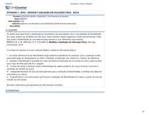 ATIVIDADE 3 - MEDIDAS E AVALIAÇÃO EM EDUCAÇÃO FÍSICA
