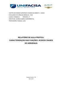 Relatório Ácidos e Bases