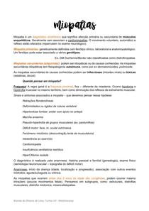 MIOPATIAS E NEUROPATIAS PERIFÉRICAS