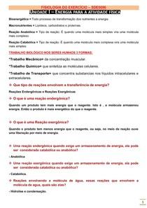 FISIOLOGIA DO EXERCÍCIO (REVISÃO) 2014.1