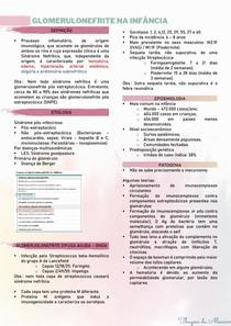 Glomerulonefrite na PED - resumo