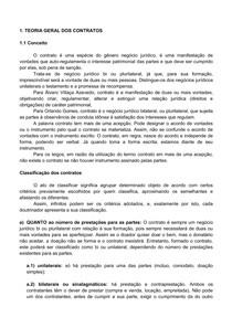 1. TEORIA GERAL DOS CONTRATOS - CONCEITO