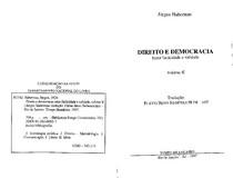 HABERMAS, Jürgen. Direito e democracia, vol. II