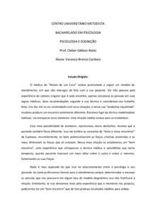 4 Reflexão sobre o texto UM RELATO DE CASO