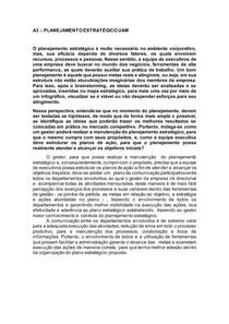 A3- PLANEJAMENTO ESTRATÉGICO UAM