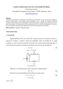 Carga e descarga de um capacitor em série