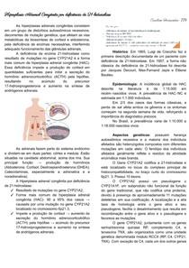 Resumo sobre Hiperplasia Adrenal Congênita